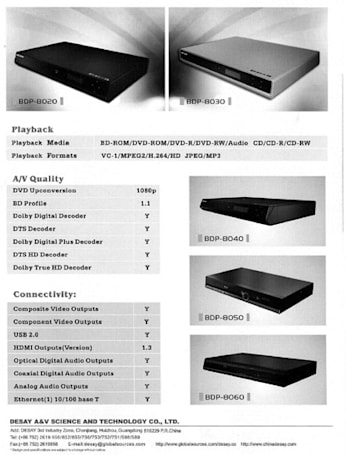 Chinese Blu-ray players revealed at SinoCES