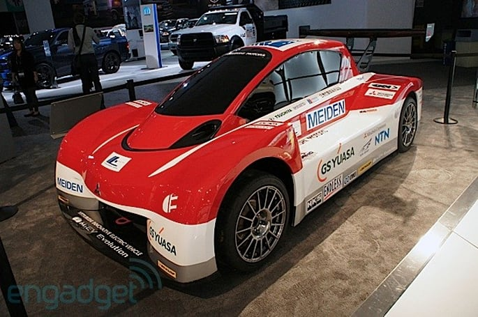 Mitsubishi's i-MiEV Evolution electric racer eyes-on