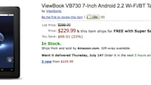 Viewsonic ships 7-inch ViewBook VB730 tablet for $230, sticks with Android 2.2