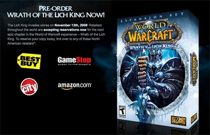 Wrath Pre-orders on Blizzard site