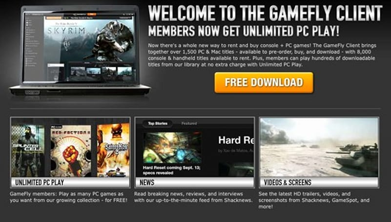 GameFly PC client officially launches today