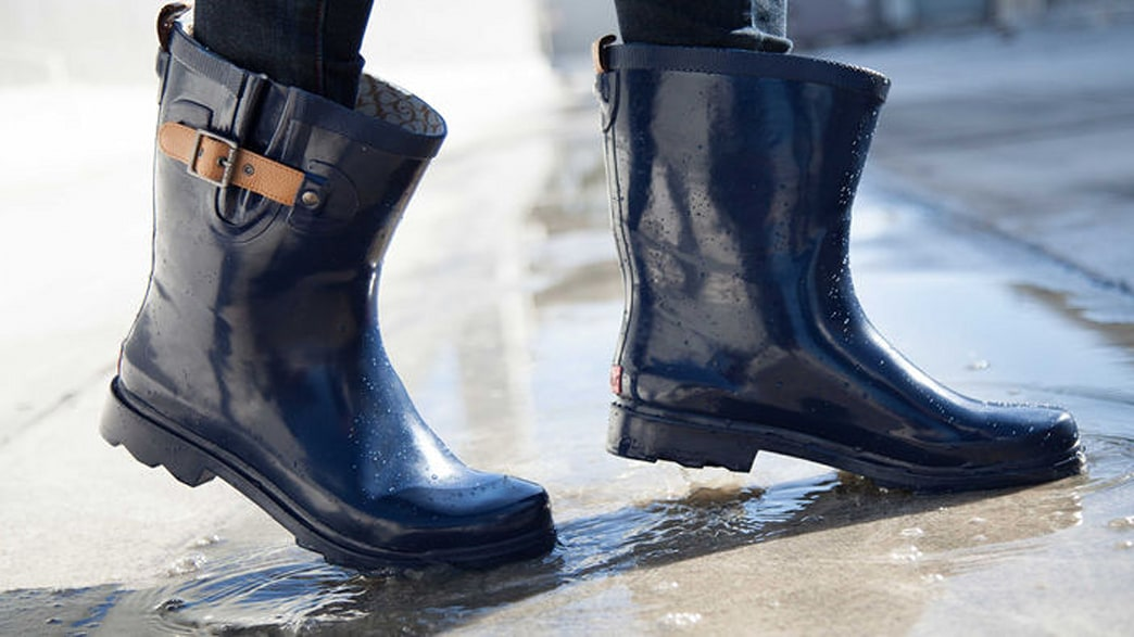 These moto-style rain boots will keep you chic and dry