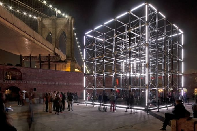 Inhabitat's Week in Green: gigantic LED cube, synthetic bones and a playground from recycled wind turbines
