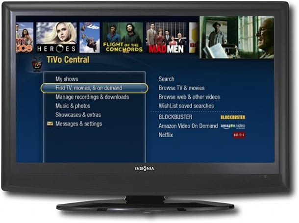 Best Buy to include TiVo's software -- but no DVR -- in Insignia HDTVs