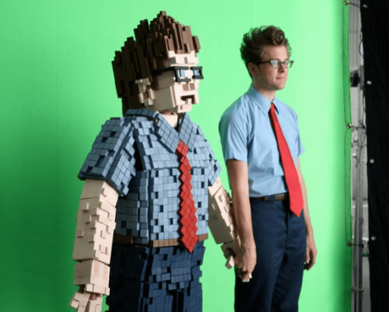 8-bit Gary and real Gary compete for our affection