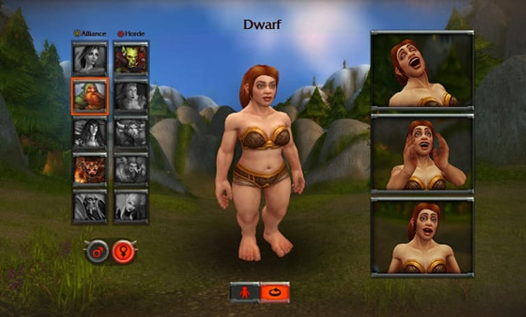 Female dwarf 3D character model appears on Warlords of Draenor site