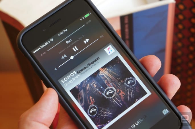 Sonos puts speaker controls on your iPhone's lock screen