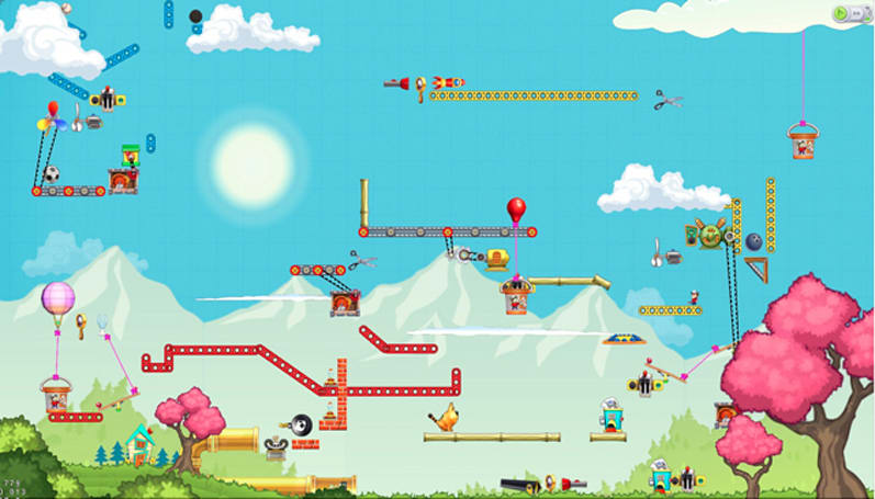 The Incredible Machine team is back with Contraption Maker, now on Steam