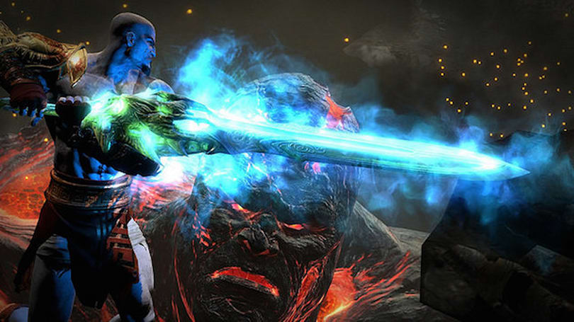 Watch a boss battle from 'God of War III Remastered' for PS4