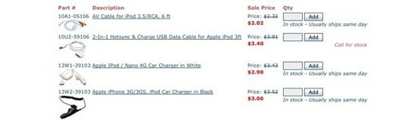 Some sites still selling third-party Apple accessories