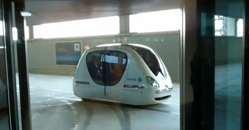 Masdar City's driverless pods now whisking students around on a limited basis (video)