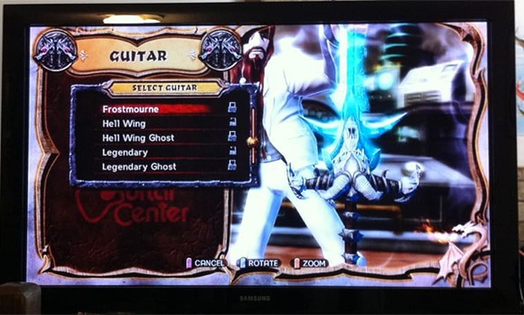 Frostmourne makes an appearance in Guitar Hero: Warriors of Rock