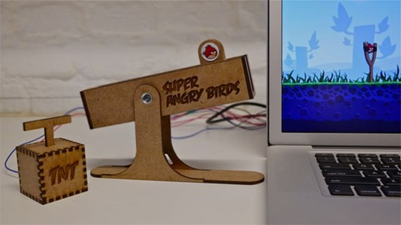 The best way to play Angry Birds is with this custom USB controller