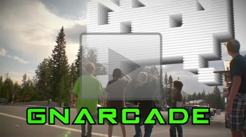 Real life snowboarding meets old-school gaming in 'Gnarcade'