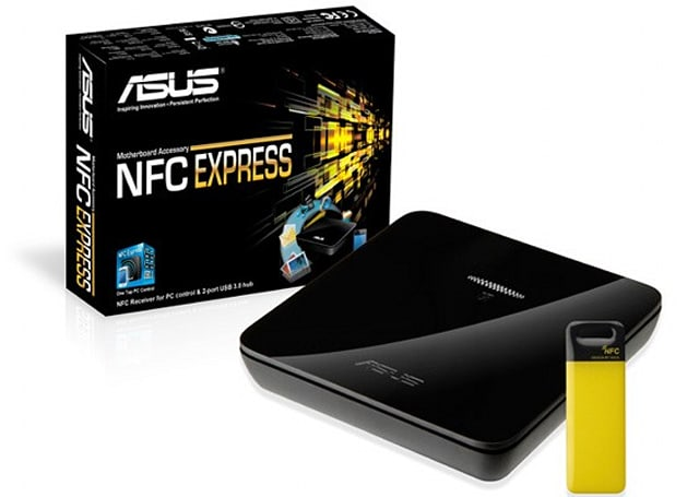 ASUS' NFC Express accessory comes bundled with Deluxe / Dual Haswell motherboard