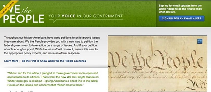White House's 'We The People' e-petition website provides a more perfect venue for trolling (video)