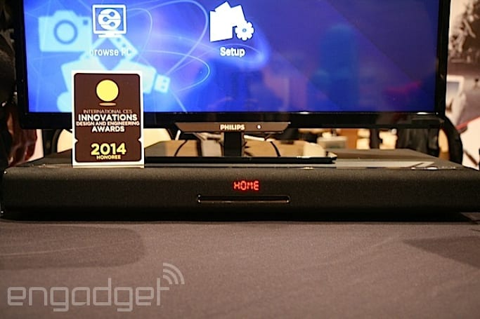 A first look at Philips' TV Surround Base integrated Blu-ray and sound bar