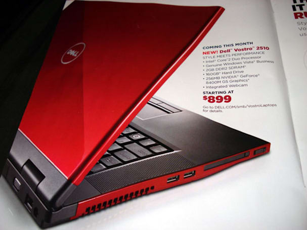 Dell Vostro 2510 laptop pops up in flier, $899 for Core 2 Duo and 256MB GPU
