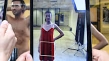 Augmented reality puts clothes on near-naked models