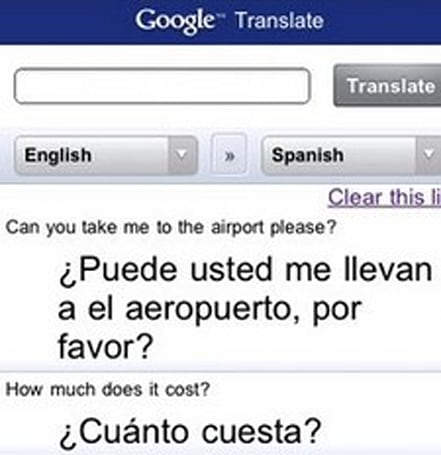 Google Translate ported to iPhone