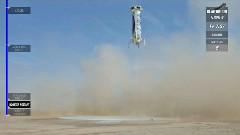 Blue Origin lands its reusable rocket a fourth time