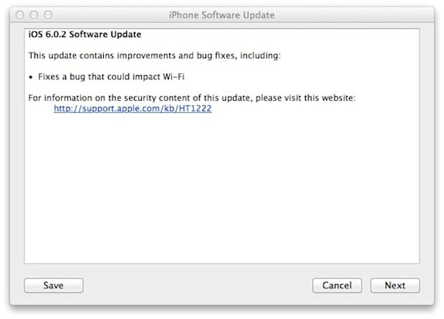 Apple releases iOS 6.0.2 update for iPhone 5 and iPad mini, promises fix for WiFi bug