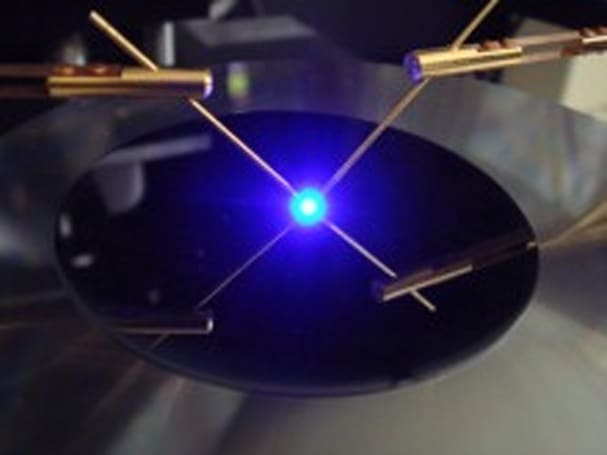 Silicon wafers to solve blue laser supply problem?