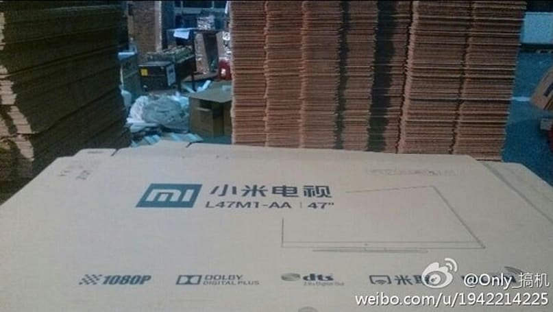 Leaked packaging suggests Xiaomi is working on a 47-inch TV (update: TV chassis!)