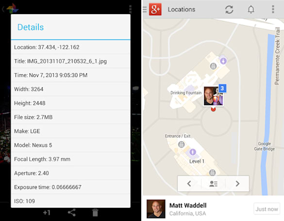 Google+ for Android updated with improved Locations, Beam support for photos