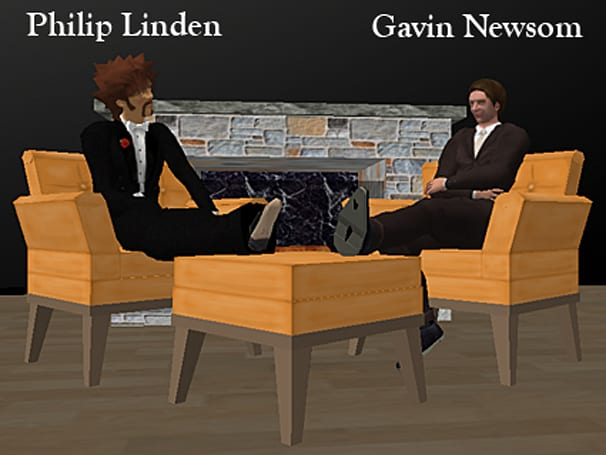 The Second Life Philip Linden/Gavin Newsom Fireside Chat, part 2