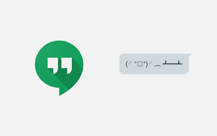 Google Hangouts adds emoticon shortcuts for easy table-flipping