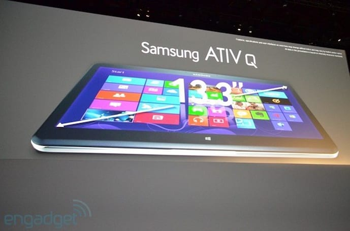 Samsung announces ATIV Q: a Windows / Android hybrid with a 3,200 x 1,800 display