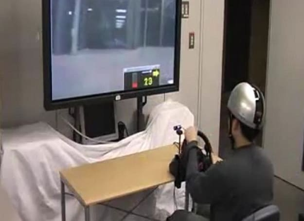 ZMP's City Simulator Experiment takes the driver out of the car, keeps the helmet just in case (video)