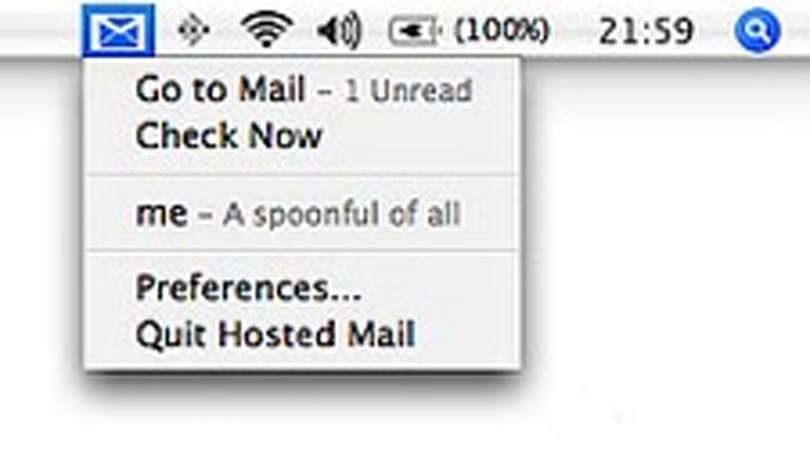 Google Hosted Mail Notifier