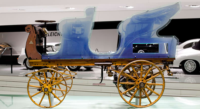 Porsche's first car is 116 years old, and it's electric