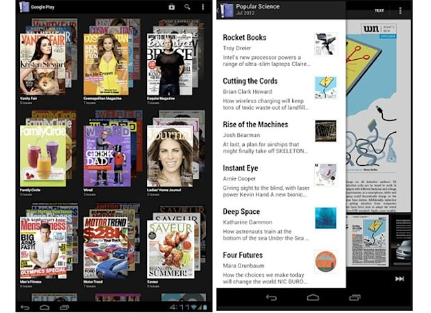 Google Play Magazines arrives in UK for light reading 'on the couch or on the go'