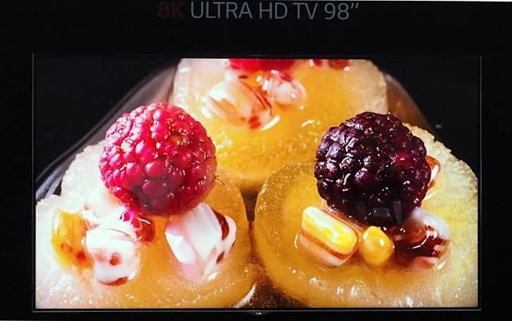 LG's got an 8K television and food looks delicious on it
