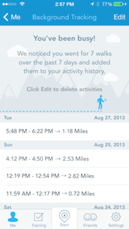 RunKeeper gets M7 and AirDrop support