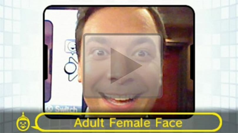 Fallon gets his 'Adult Female Face' blown away during 3DS demo on Late Night