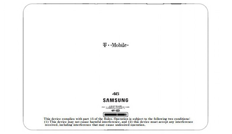 Samsung SGH-T799 tablet turns up at the FCC wearing T-Mobile's 4G colors