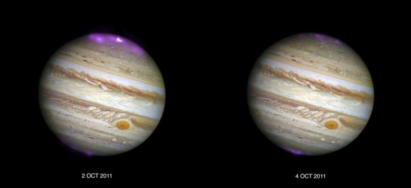 Solar storms trigger X-ray auroras on Jupiter