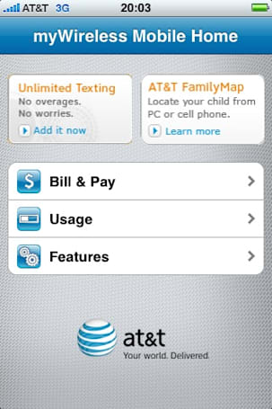 AT&T right behind Verizon with on-device account management app