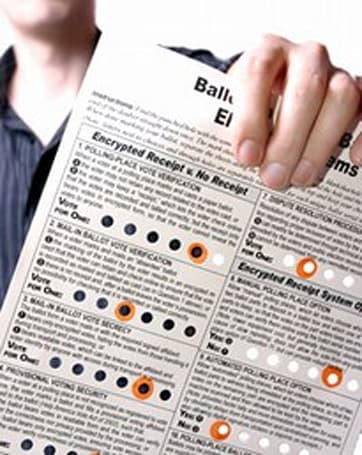 Punchscan incorporates cryptography into e-voting