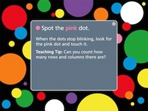 Spot the Dot for iPad is a fun, simple children's game