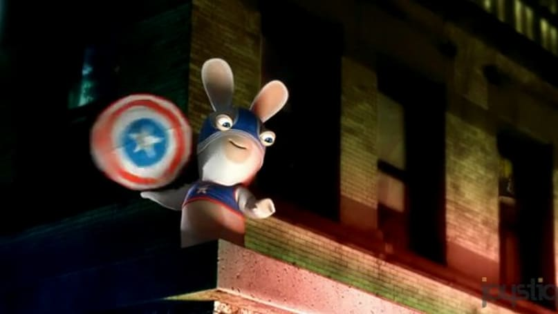 The Rabbids approve of Captain America