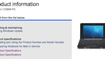 Specs for HP's Mini 1100 pop up, ExpressCard/54 slot is a go Update: maybe not
