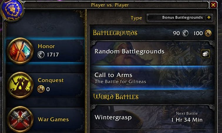 Patch 5.2 PTR: PvP Interface gets a makeover