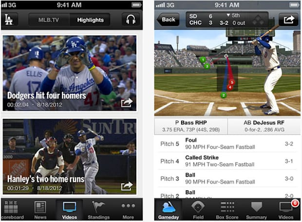 MLB At Bat 2012 app update brings new stats overlay, Ford SYNC integration and more