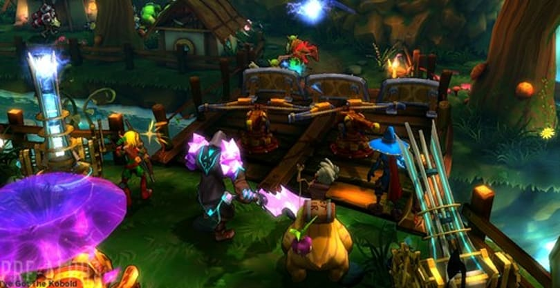 Dungeon Defenders 2 begins character profiles with 'Man and Machine'