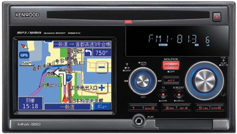 Kenwood's Japan-only GPS car stereo, the MNA-350